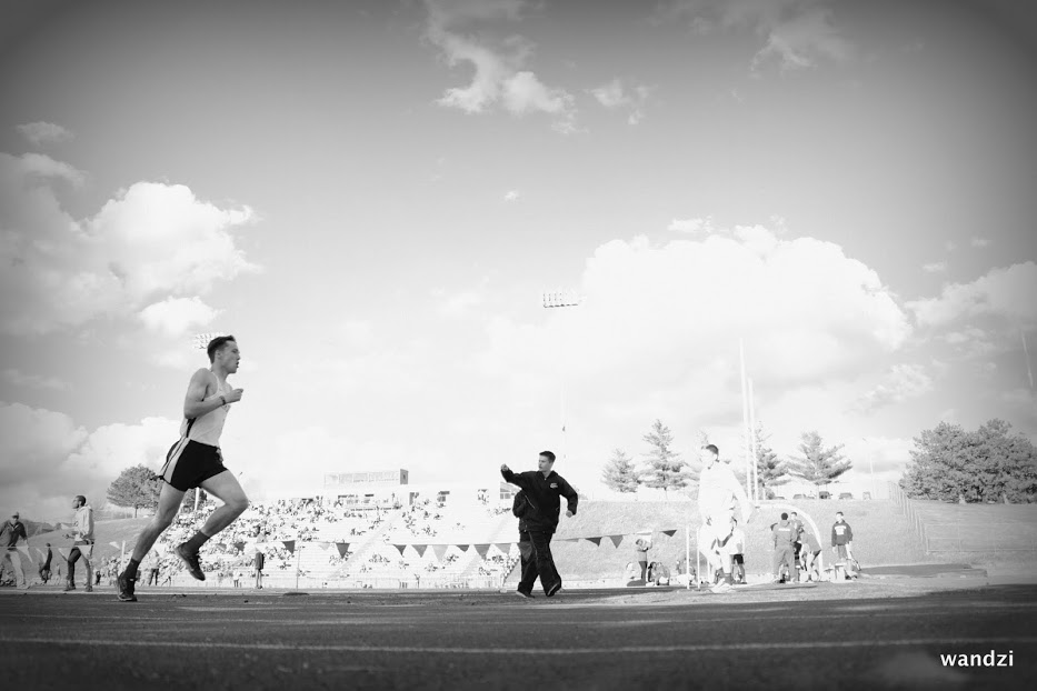 Nate Pierce, competing and giving the effort a race deserves.